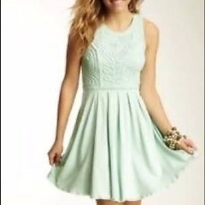 Free People Sea Foam Skater Dress